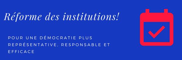 Réforme des institutions: projet de loi constitutionnelle