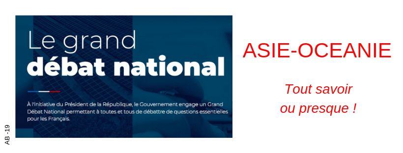 Le Grand Débat National en Asie-Océanie